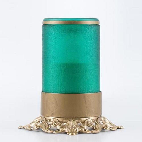 Green Ornate Memorial Candle