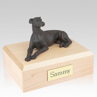 Greyhound Bronze Dog Urns