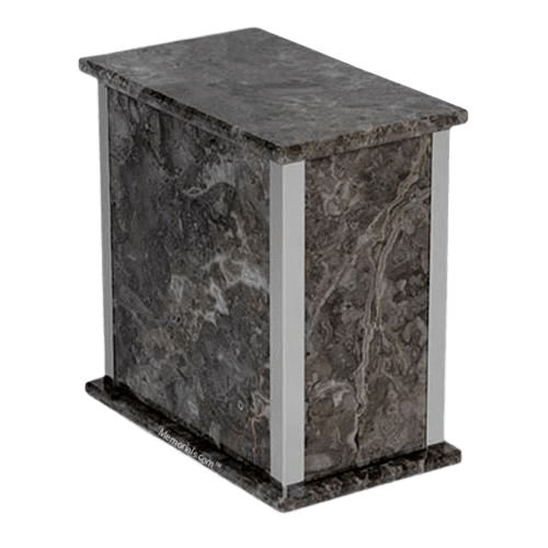 Grigio Belliemi Silver Marble Urn