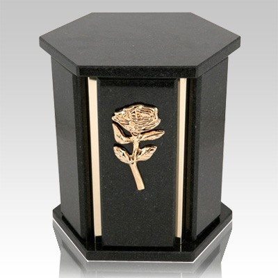 Hexagon Black Cambrian Granite Urn