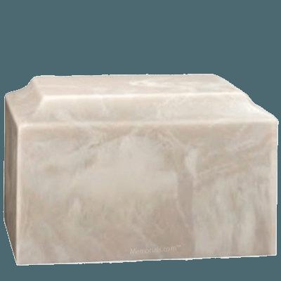Harmony Blanc Marble Cremation Urn