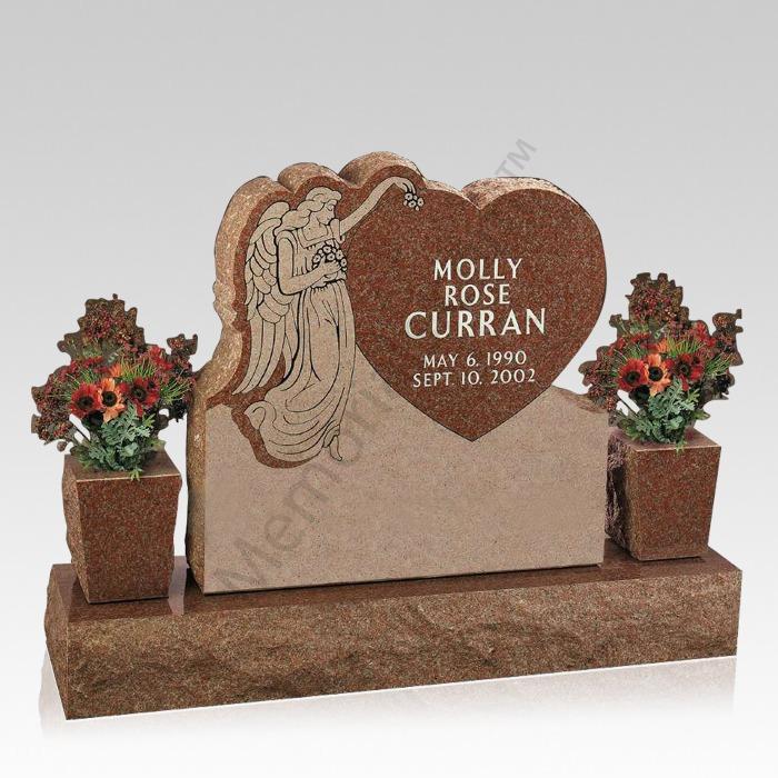 Heart of an Angel Cemetery Headstone