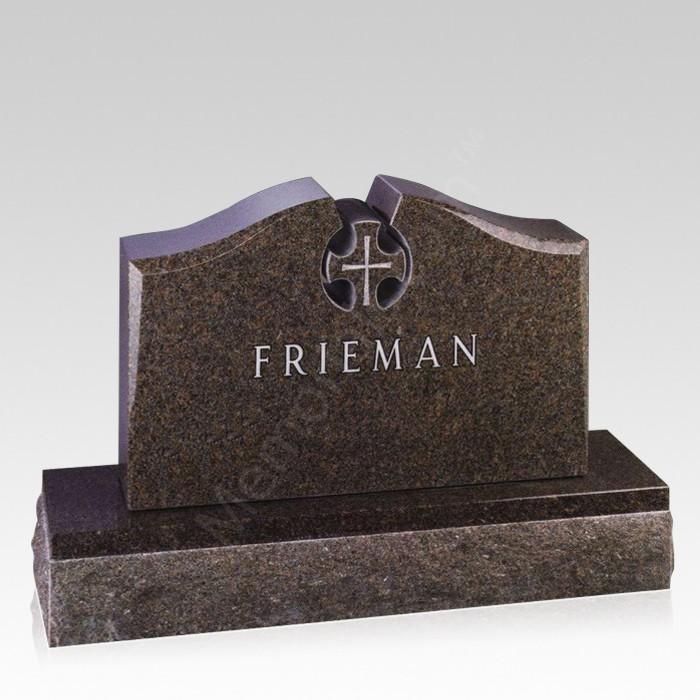 Heaven Upright Cemetery Headstone