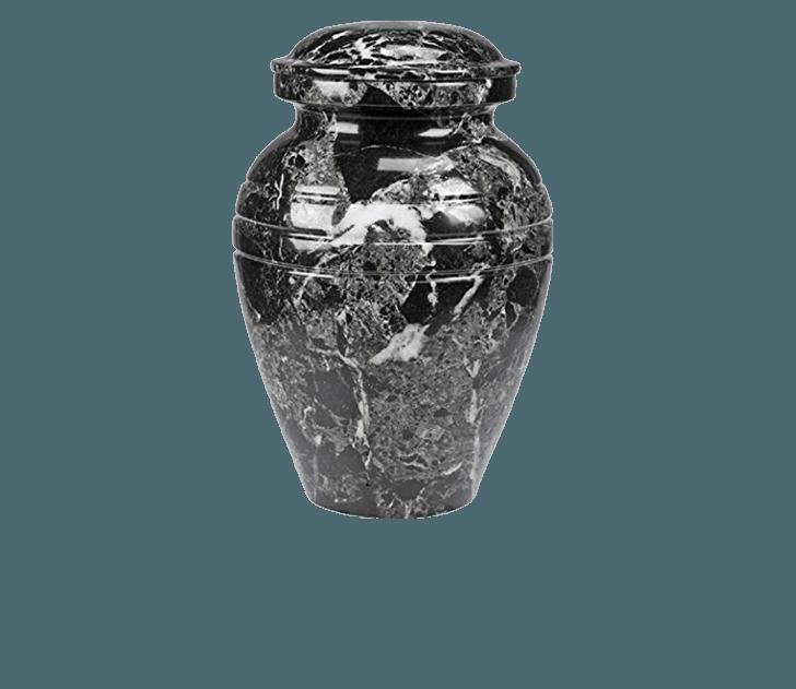 Hera Black Marble Cremation Urn