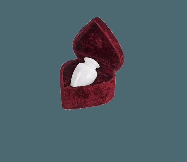 Hera White Marble Keepsake Cremation Urn