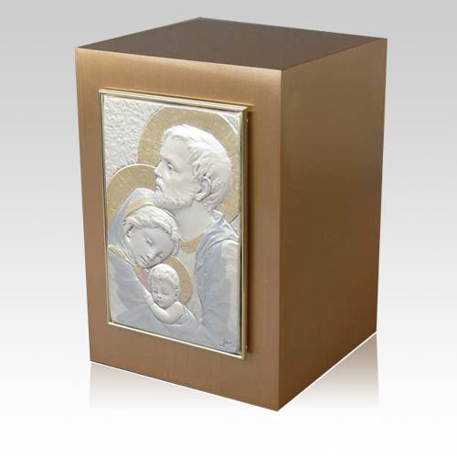 Holy Family Bronze Cremation Urn