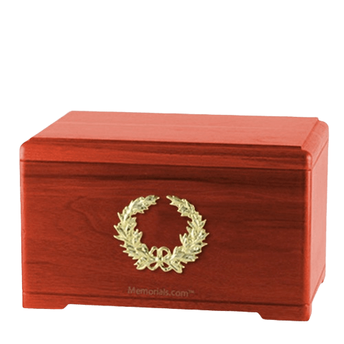 Honor Wreath Cherry Cremation Urn