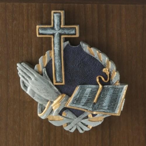 Praying Cross Walnut Cremation Urn