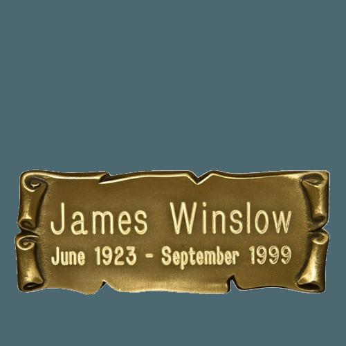 Horizontal Gold Nameplate Medallion