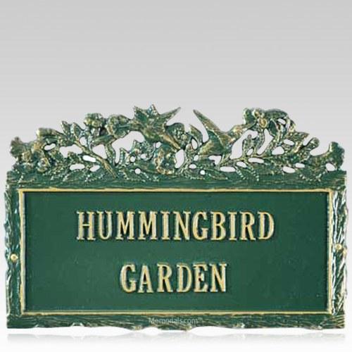 Hummingbird Dedication Plaque