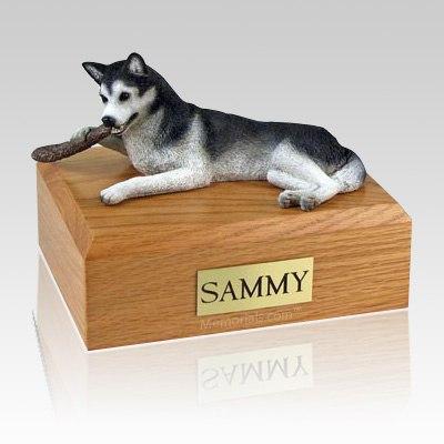 Husky Black & White Dog Urns