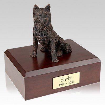 Husky Bronze Dog Urns