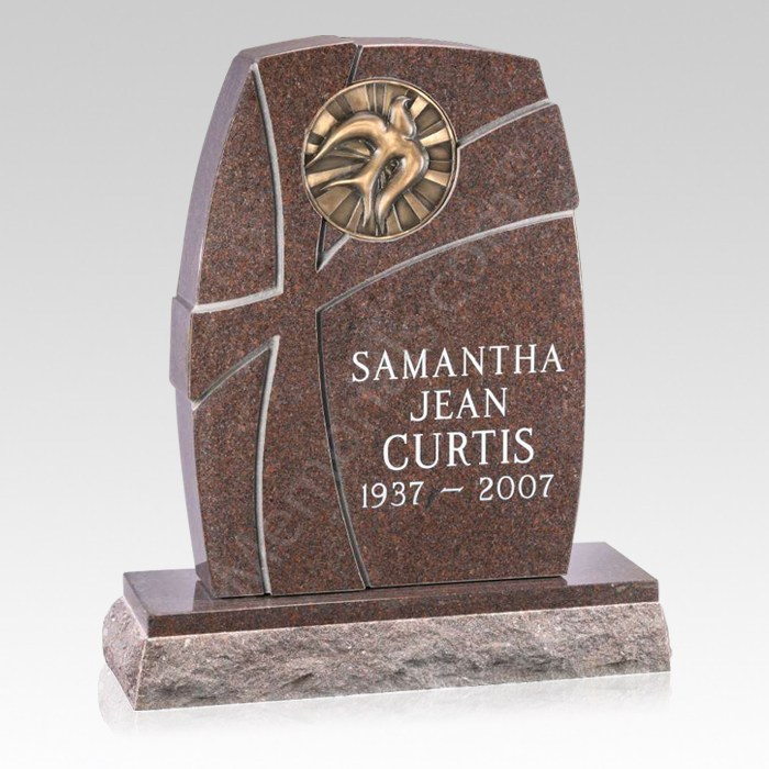 Illumination Upright Cemetery Headstone