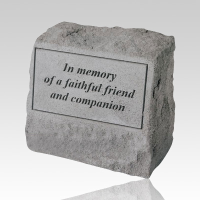In Memory Of A Faithful Cremation Gravestone