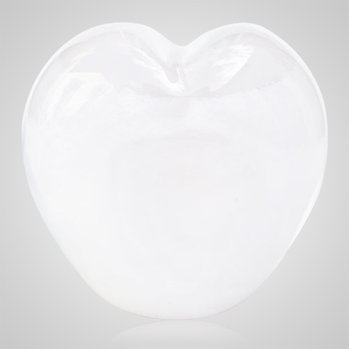 Ivory White Cremation Ash Glass Heart