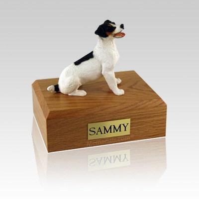Jack Russell Terrier Black & Brown Medium Dog Urn
