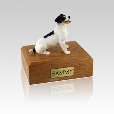 Jack Russell Terrier Black & Brown Small Dog Urn