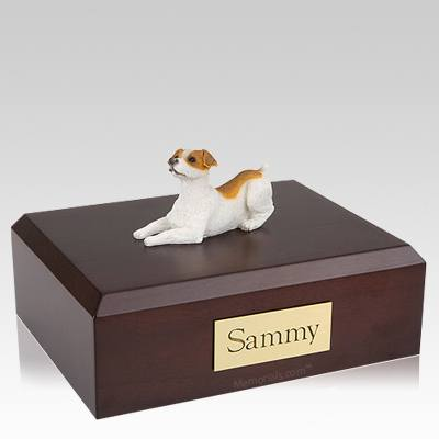 Jack Russell Terrier Brown & White Laying Dog Urns