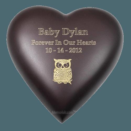 Java Heart Child Cremation Urn