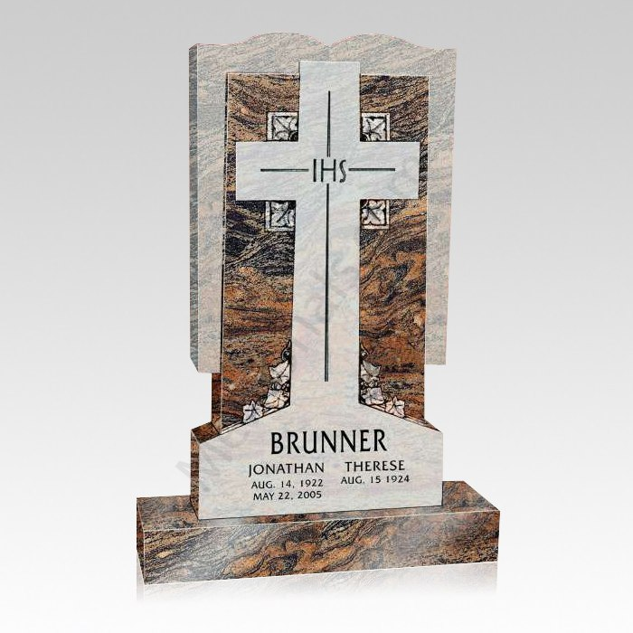 Jesus Cross Upright Cemetery Headstone