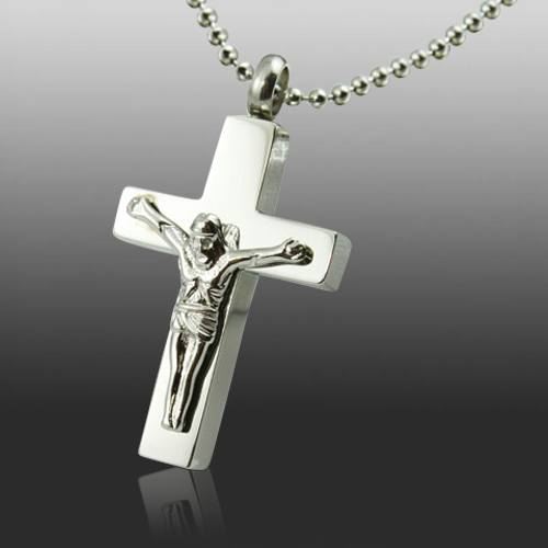 Jesus On The Cross Cremation Jewelry