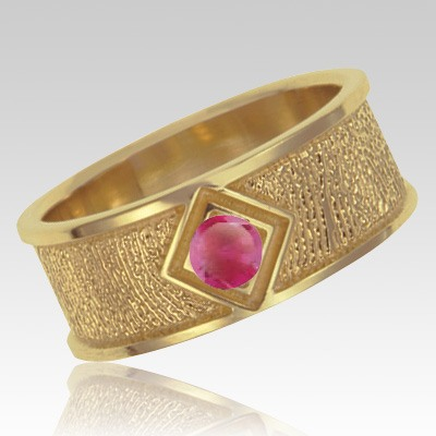 July Birthstone 14k Yellow Gold Ring Print Keepsake