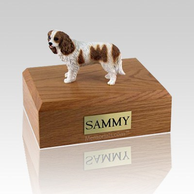 King Charles Spaniel Brown & White Large Dog Urn