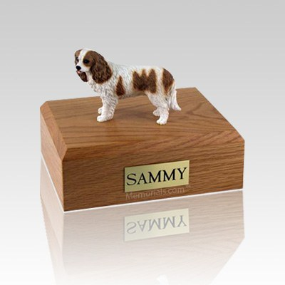 King Charles Spaniel Brown & White Medium Dog Urn