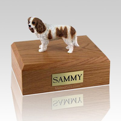 King Charles Spaniel Brown & White X Large Dog Urn