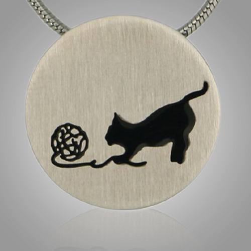 Kitty Signet Pewter Keepsake Pendant
