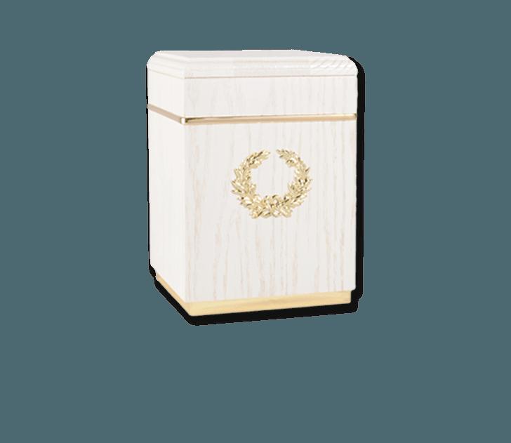 Kizhi White Cremation Urn