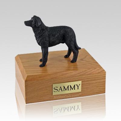 Labrador Black Standing Large Dog Urn