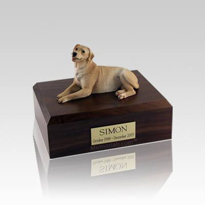 Labrador Golden Laying Small Dog Urn