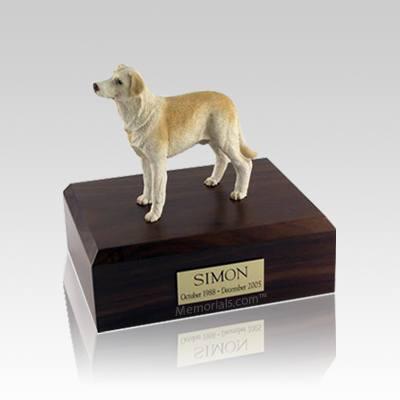 Labrador Yellow Standing Small Dog Urn