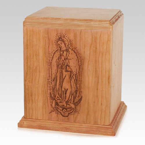 Lady of Guadalupe Cherry Cremation Urn