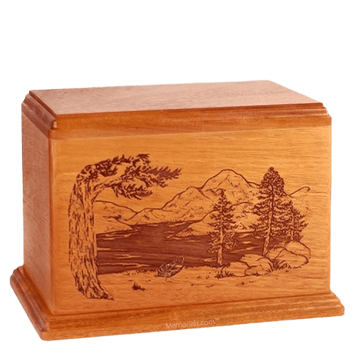 Lakeside Companion Mahogany Wood Urn