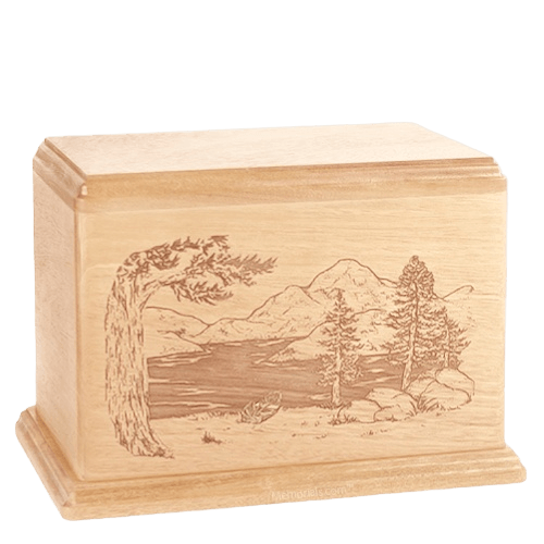 Lakeside Companion Maple Wood Urn