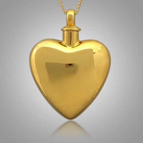 Large Pet Heart Cremation Pendant II