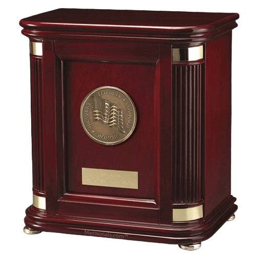 Laudation Patriot Wood Cremation Urn