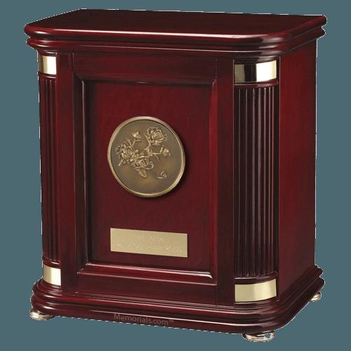 Laudation Roses Wood Cremation Urn