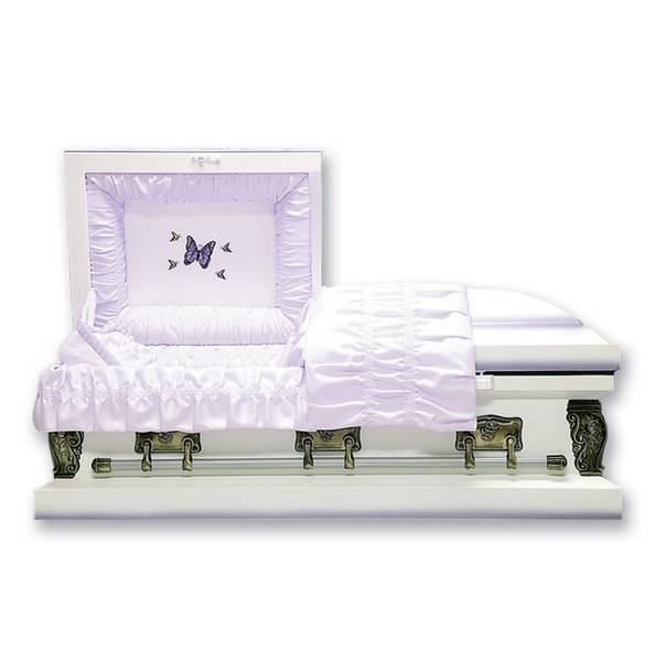 Lavender Butterfly Child Caskets