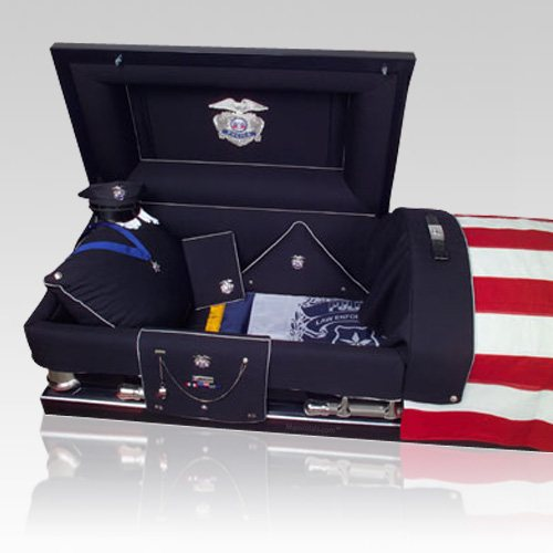 Law Enforcement Burial Casket