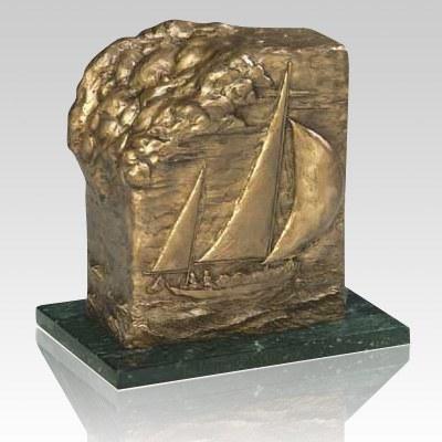 Sailing Bronze Cremation Urn