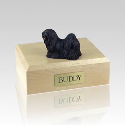 Lhasa Apso Black Large Dog Urn