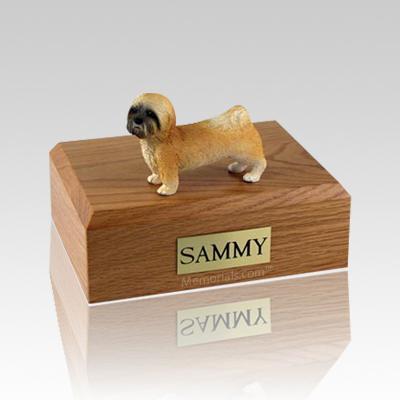 Lhasa Apso Brown Puppycut Large Dog Urn