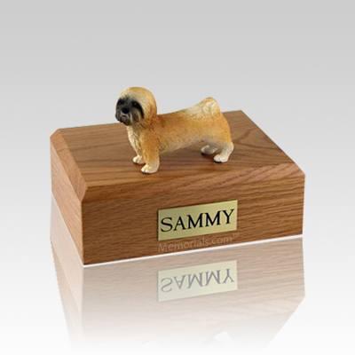 Lhasa Apso Brown Puppycut Medium Dog Urn