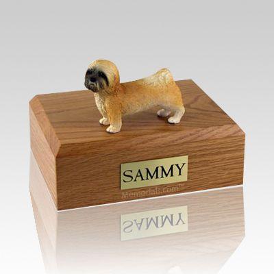 Lhasa Apso Brown Puppycut X Large Dog Urn