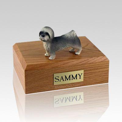 Lhasa Apso Gray Puppycut Dog Urns
