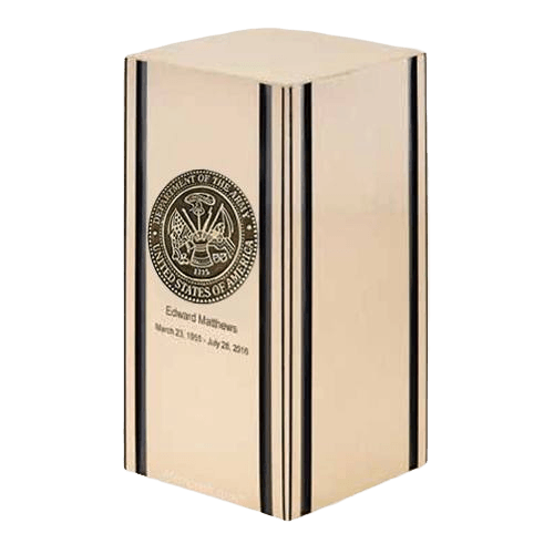 Liberty Army Bronze Military Cremation Urn