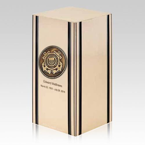 Liberty Coast Guard Bronze Military Cremation Urn